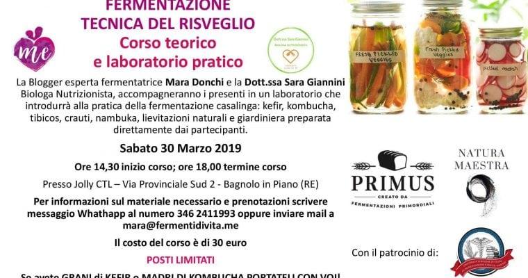 FERMENTAZIONE TECNICA DEL RISVEGLIO BAGNOLO IN PIANO, Reggio Emilia 30 marzo