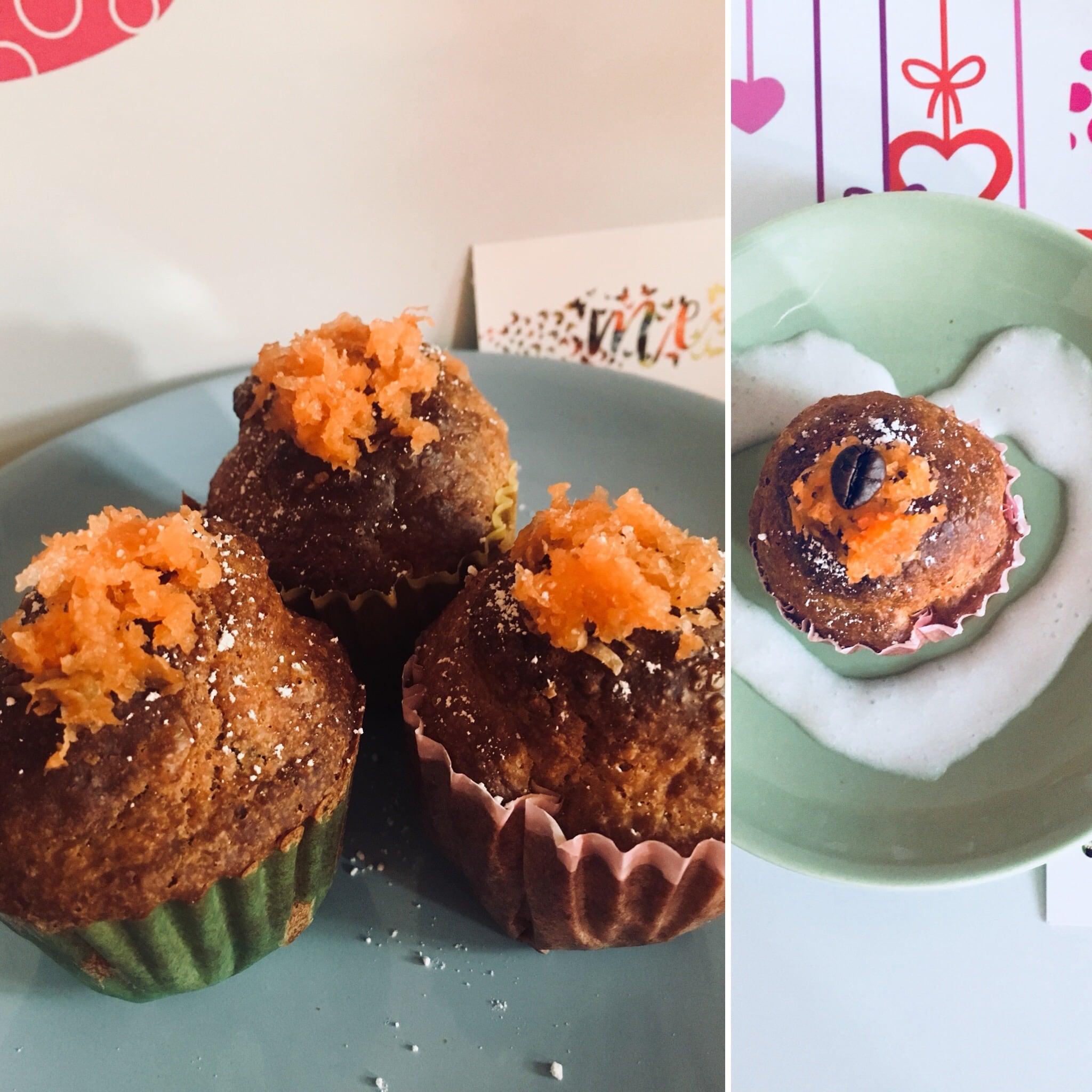 METODO LIEVITANDO FDV :  muffin di roger rabbit alla carota 🥕 con kefir di latte